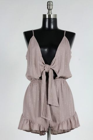 METALLIC,WEEKEND,ROMPER