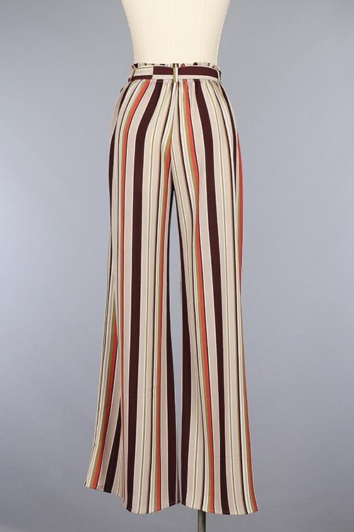 STRIPED CABO PANTS WITH WAIST TIE - product images  of