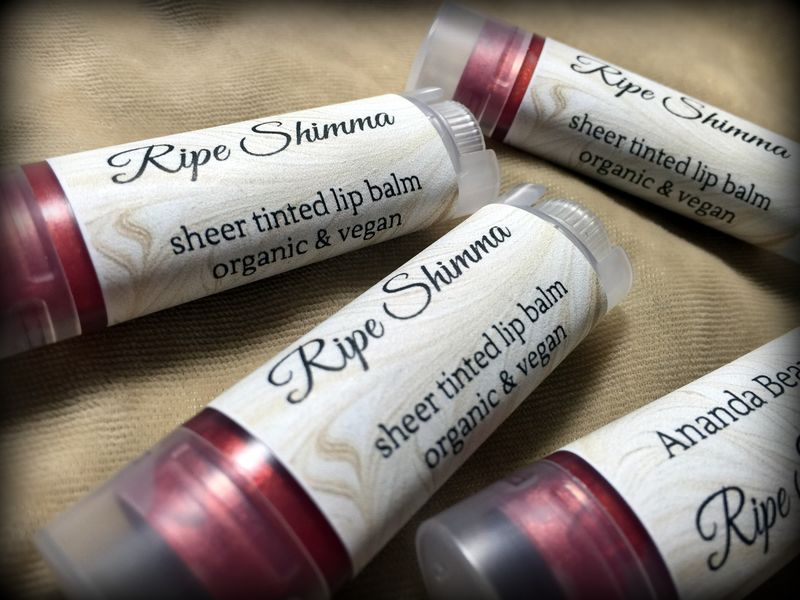*50% clearance* RIPE SHIMMA Organic Vegan Tinted Lip Balm - product images  of