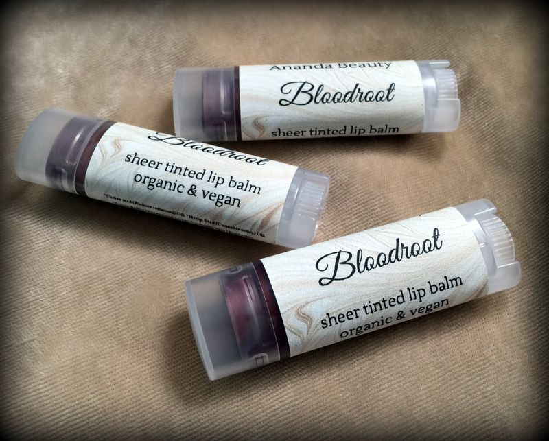 *50% clearance* BLOODROOT Organic Vegan Tinted Lip Balm  - product images  of