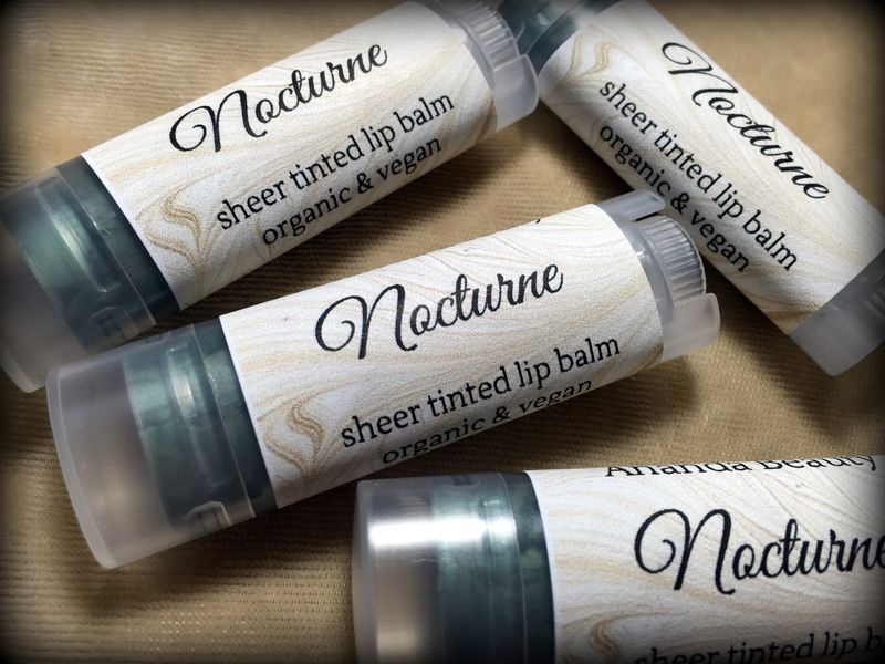*50% clearance* NOCTURNE Organic Vegan Tinted Lip Balm   - product images  of