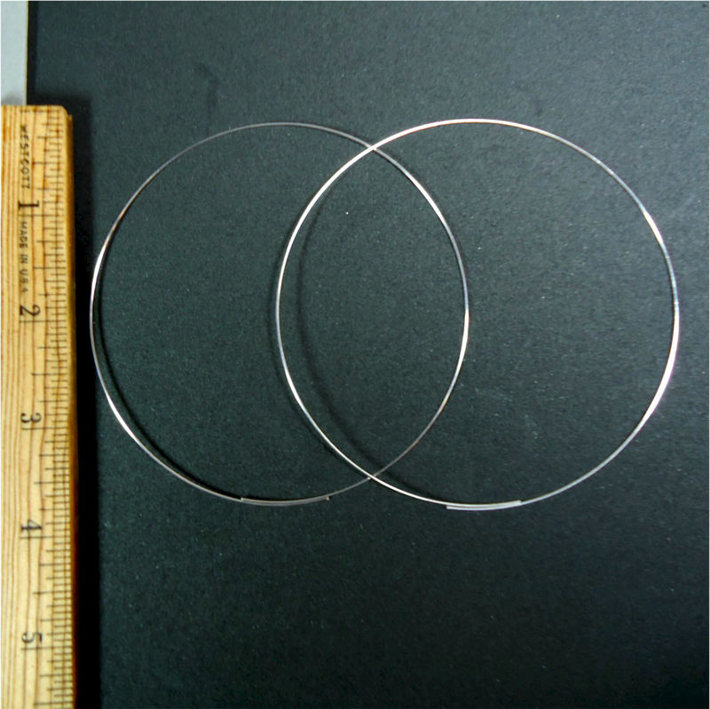 Silver Plated 4 Inch Hoop Earrings Product Images Of