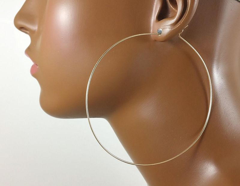 Gold Hoops 3 inch 14k Gold Filled - Bestseller! - product images  of