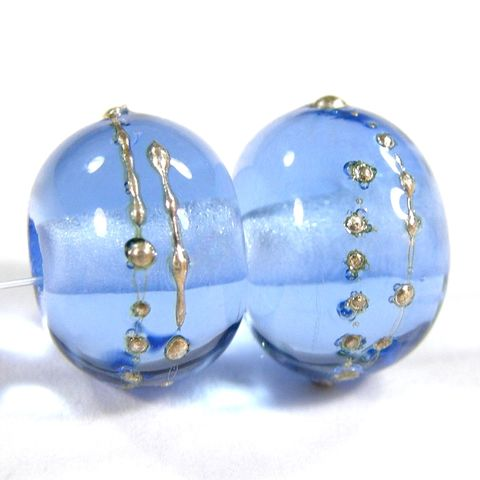 Shiny,Transparent,Light,Blue,Handmade,Lampwork,Bead,.999,Fine,Silver,052gfs,handmade, lampwork, glass, bead, beads, jewelry supplies, jewelry beads, bracelet beads, glass beads, light blue, transparent, silver, fine silver, shiny, glossy, covergirlbeads, sra, charlotte, hayes, alvin, texas
