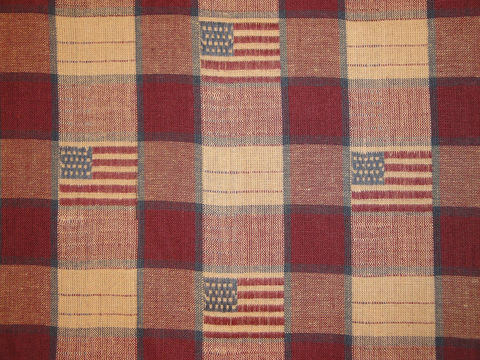 Old,Glory,Flag,Check,Jacquard,Cotton,Material,Sold,By,The,Yard,Supplies,Fabric,flag_fabric,old_glory_fabric,stars_and_stripes,large_check,red_white_blue,americana_fabric,jacquard_material,jacquard_fabric,cotton_material,fabric_by_the_yard,jacquard_plaid,cotton_fabric,OG34,Cotton Material