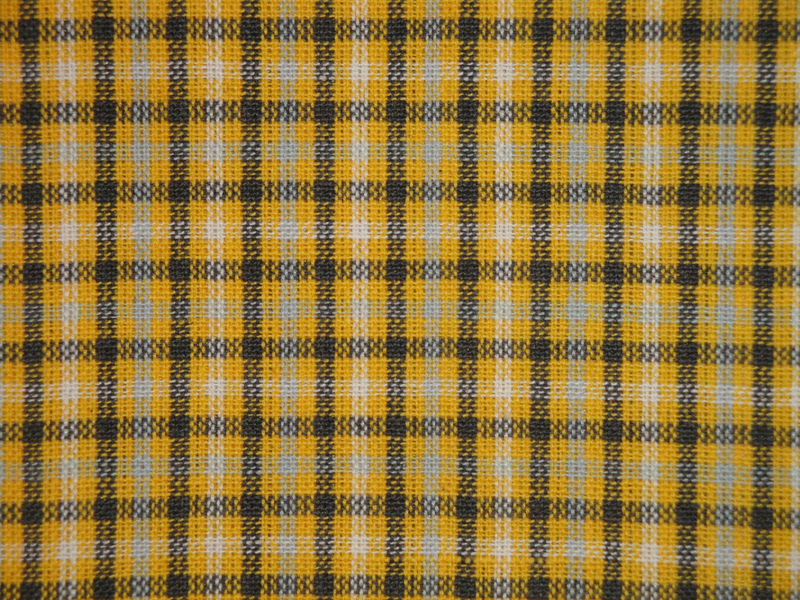Homespun Check Fabric Yellow White Grey And Charcoal Sold By The ...