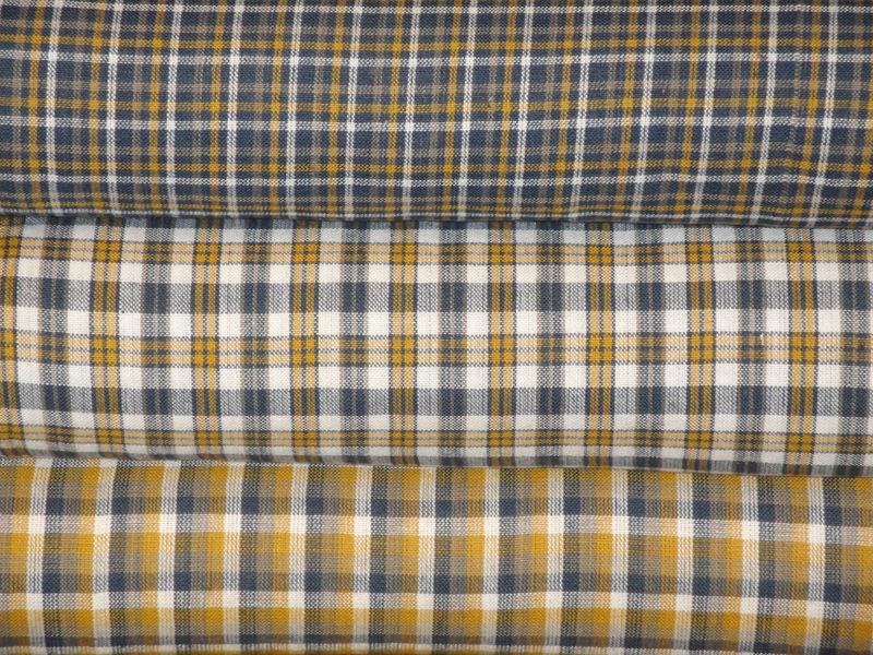 Homespun Fabric Cotton Home Decor Quilt Plaid