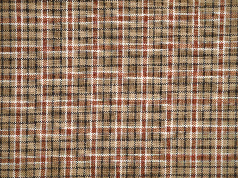 home decor fabrics by the yard. Plaid Homespun Fabric  Primitive Cotton Rag Quilt Doll Making Home Decor 1 Yard Kittredge Mercantile