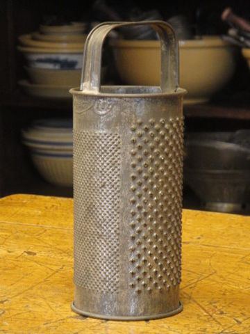 Cream,City,Vintage,Round,Grater,round grater, primitive grater, old grater, cream city grater, Kitchen collectible