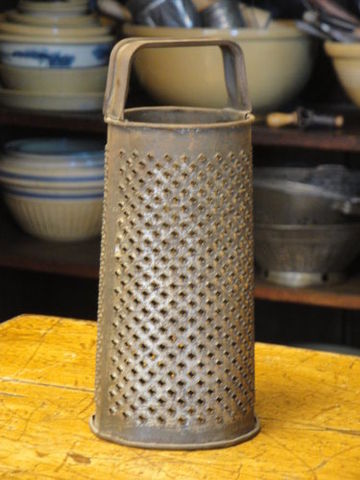 Antique,Round,Grater,Dated,round grater, primitive grater, old grater, kitchen collectible