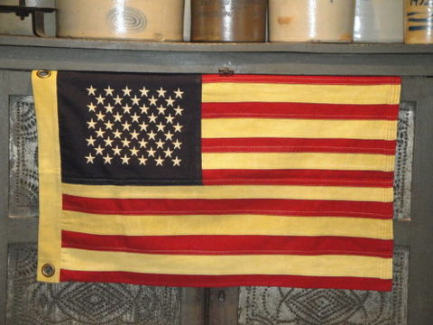 American,Flag,Aged,Small