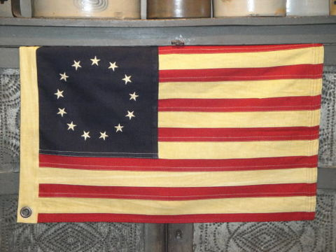 Betsy,Ross,Flag,Aged,Small