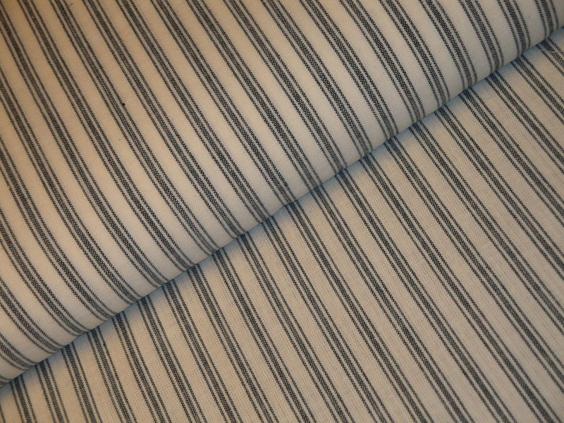 Homespun Ticking Fabric Blue And White Sold By The Yard Kittredge