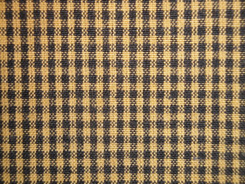 Mustard,And,Black,Woven,Cotton,Homespun,Small,Check,Fabric,1,Yard,mustard homespun fabric, small check fabric, Dunroven House Homespun Fabric, primitive check fabric
