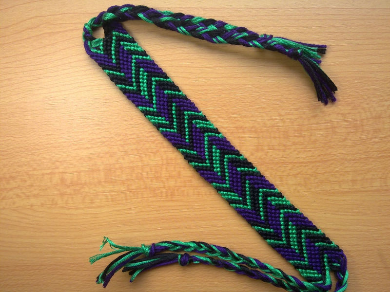 friendship bracelet macrame zig zag made to order