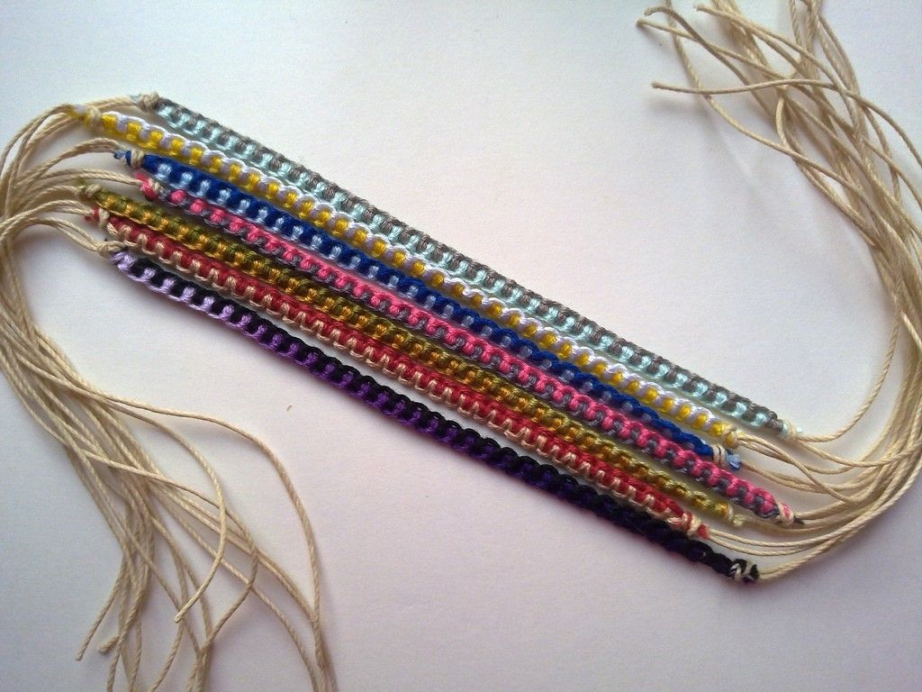 How to read friendship bracelet patterns