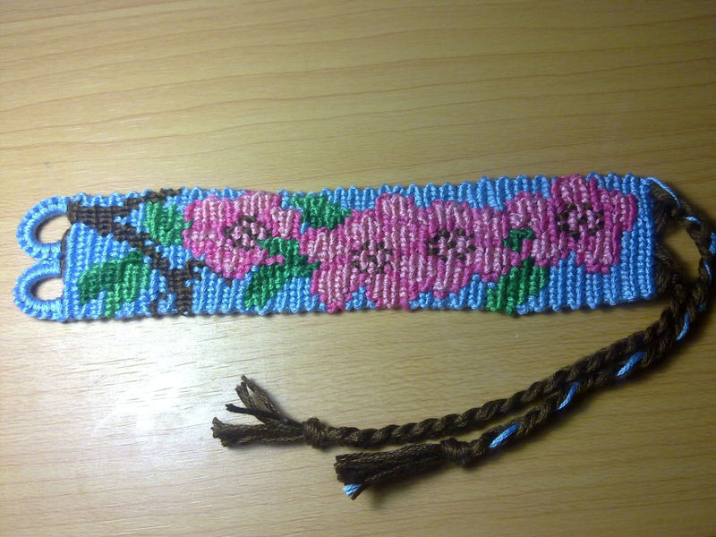friendship bracelet cherry blossom made to order