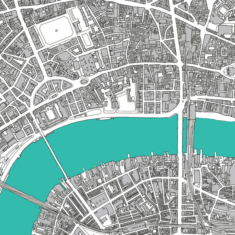 Map Art Print London Limited Edition: Map Of London Print At Infoasik.co