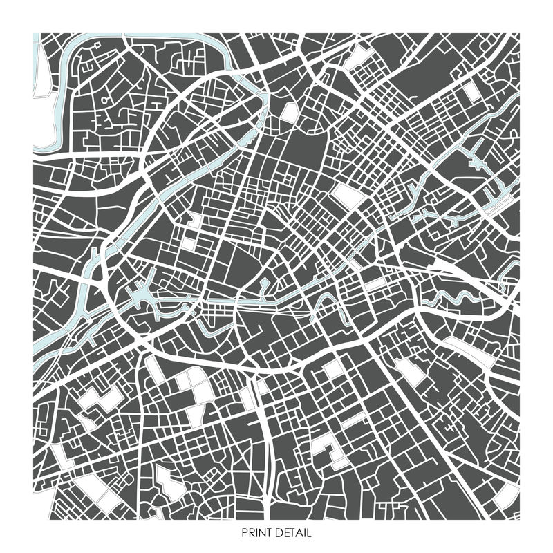manchester map art prints limited edition prints bronagh kennedy