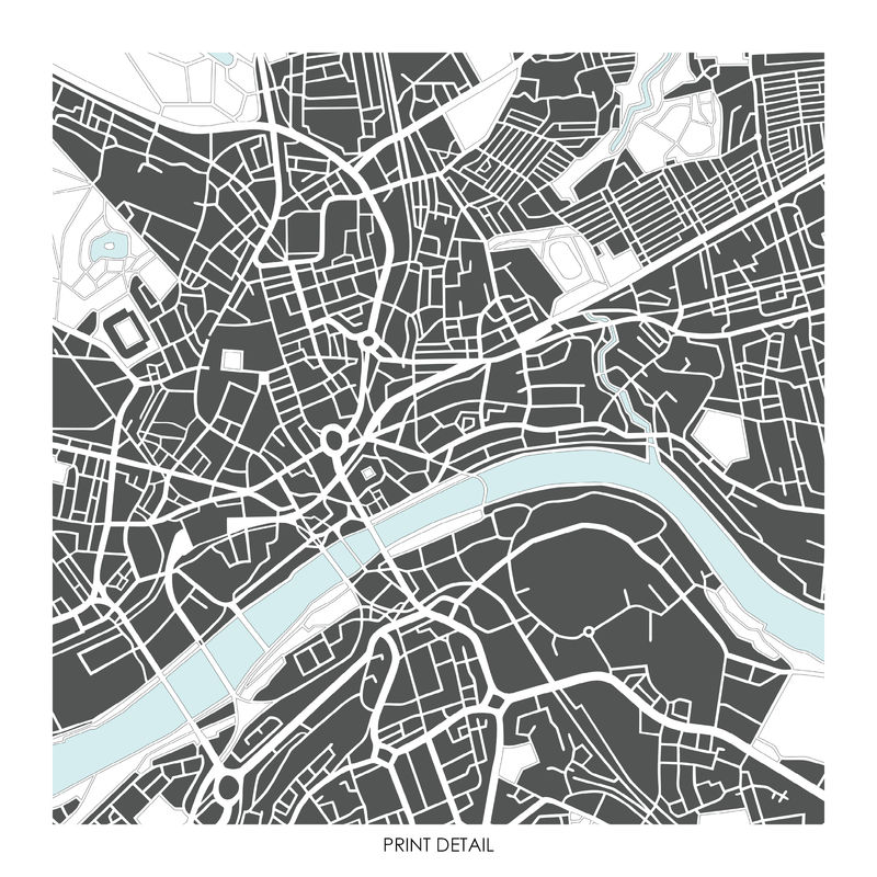 newcastle map art prints limited edition prints bronagh kennedy