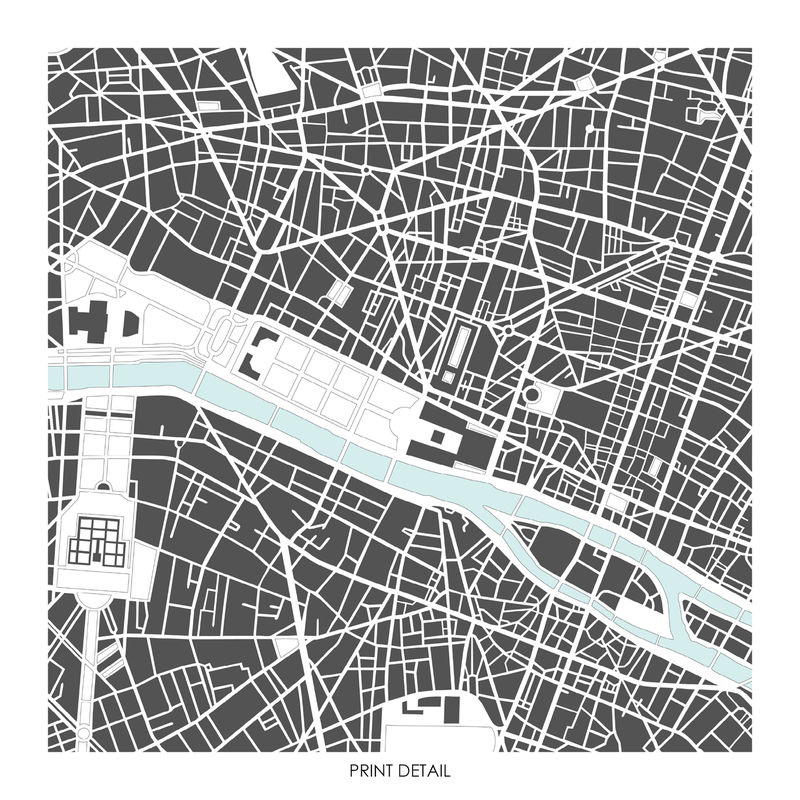 Paris Map Art Prints - LIMITED EDITION PRINTS - BRONAGH KENNEDY ART ...