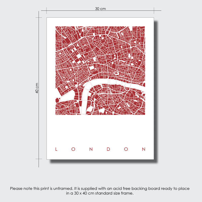 LONDON MAP ART PRINTS - LIMITED EDITION PRINTS - BRONAGH KENNEDY ART ...
