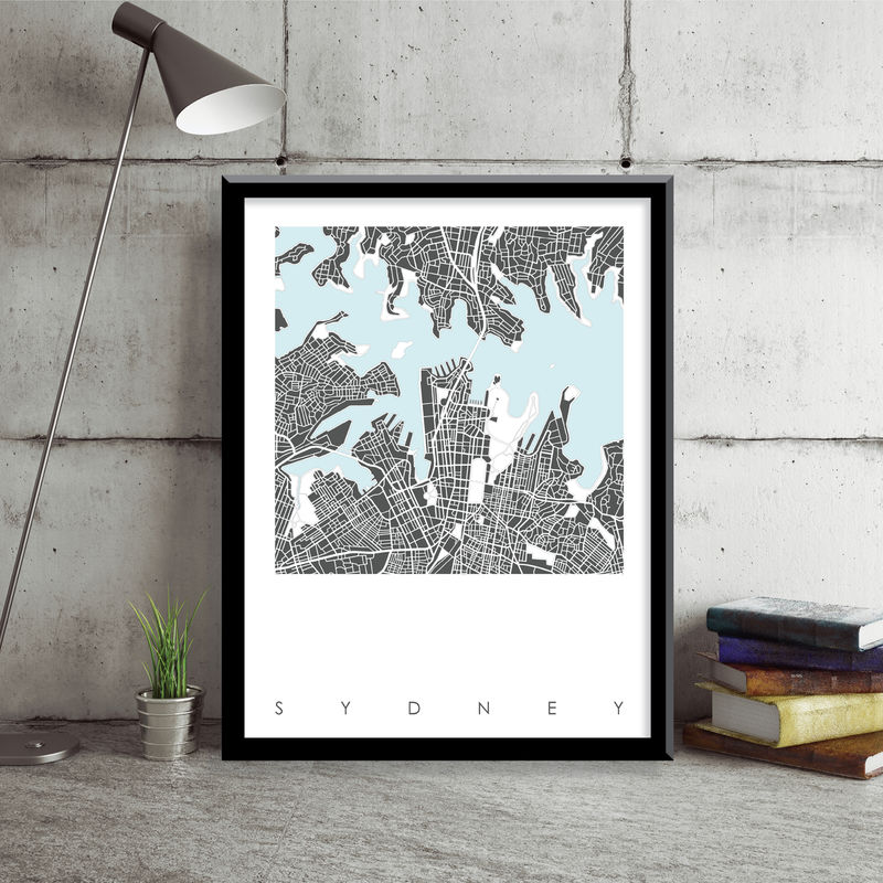 Sydney Map Art Prints - LIMITED EDITION PRINTS - BRONAGH KENNEDY ART on