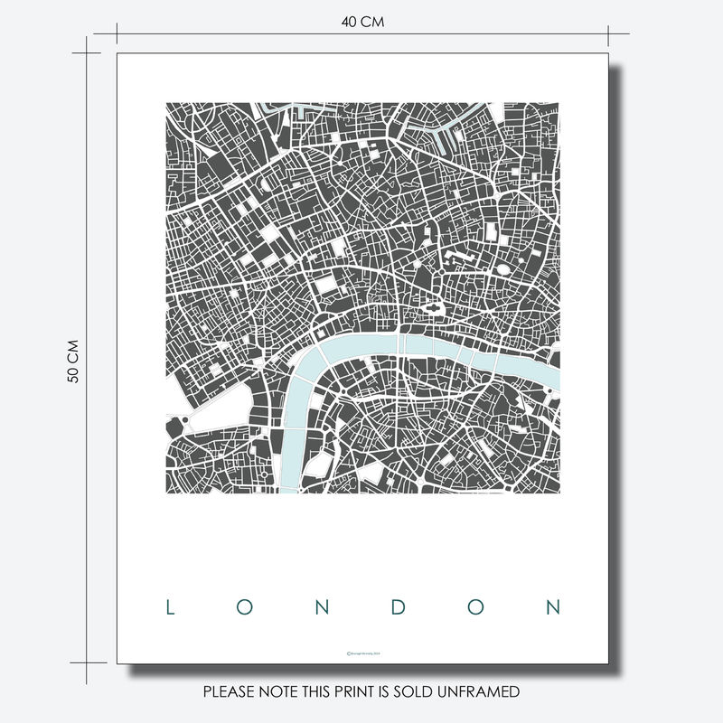 London Map Art Print Limited Edition Prints Bronagh Kennedy Art