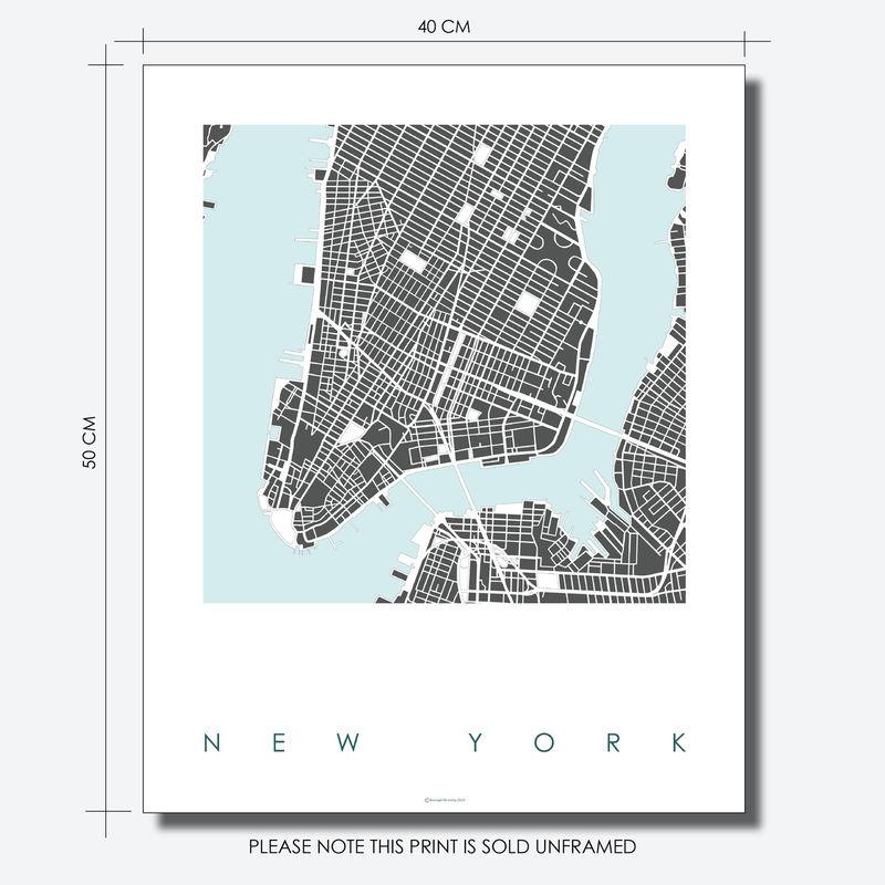 New York Map Art Prints Limited Edition Prints Bronagh Kennedy
