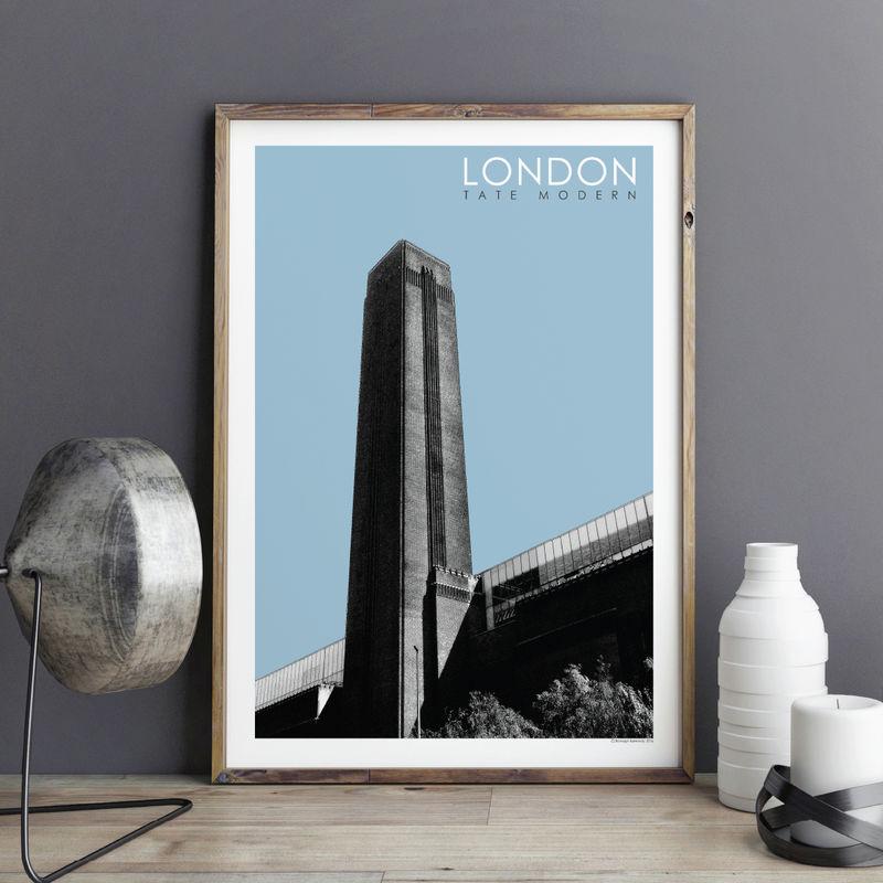 London Wall Art london prints - tate modern - travel poster - bronagh kennedy art