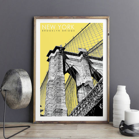 New,York,Prints,-,Brooklyn,Bridge,Travel,Poster,new york prints, travel posters, city prints, art prints, travel gift, brooklyn bridge