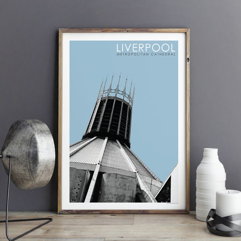 Liverpool,Prints,-,Metropolitan,Cathedral,liverpool prints, travel posters, city prints, travel prints, paddy's wigwam