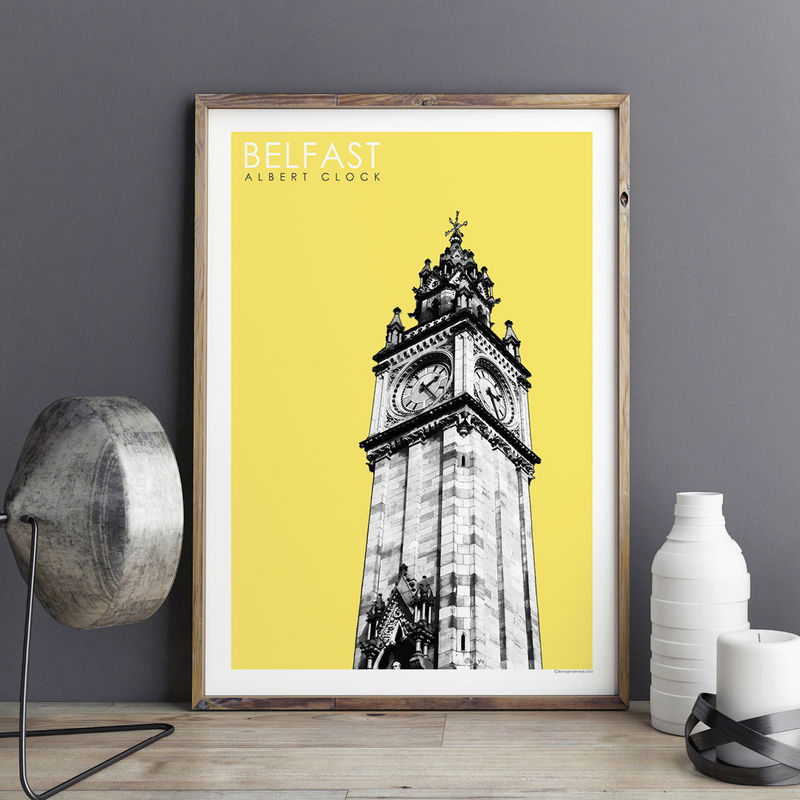 Travel Prints Belfast Albert Clock City Prints