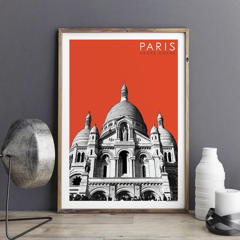 paris prints sacre coeur travel posters bronagh kennedy art prints. Black Bedroom Furniture Sets. Home Design Ideas