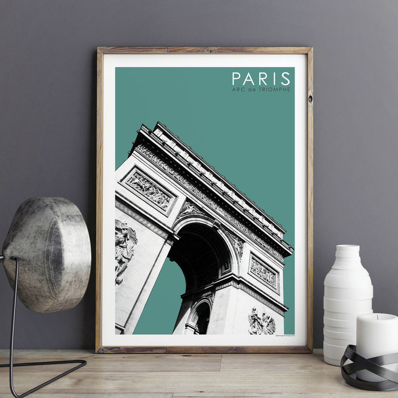 paris prints arc de triomphe travel poster bronagh kennedy art prints. Black Bedroom Furniture Sets. Home Design Ideas