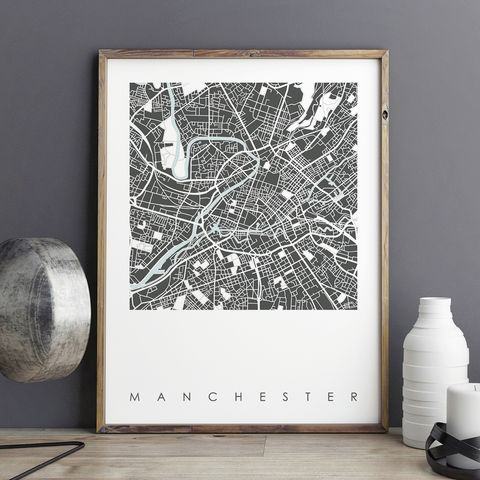 Manchester,Map,Art,Prints,-,Limited,Edition,manchester map art prints, city maps, limited edition prints, manchester prints