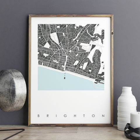 Brighton,Map,Art,Print,-,LIMITED,EDITION,PRINTsS,brighton map art prints, city maps, city prints, limited edition prints