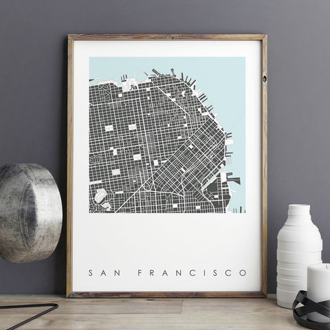 San,Francisco,Map,Art,Print,-,LIMITED,EDITION,PRINTS,san francisco map art prints, city maps, city prints, limited edition prints