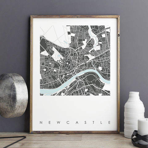 Newcastle,Map,Art,Prints,-,LIMITED,EDITION,PRINTS,newcastle map art prints, city maps, city prints, limited edition prints