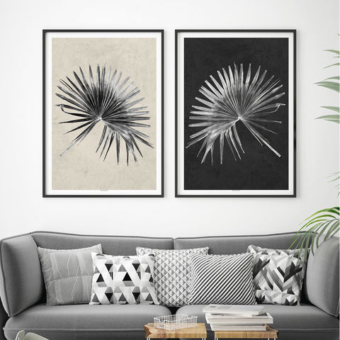 Set,of,2,Tropical,Art,Prints,-,Palm,Leaf,Botanical,Minimalist,Set of 2 Tropical Art Prints, Palm leaf Prints, Botanical Prints, Minimalist Prints, botanical themed gifts