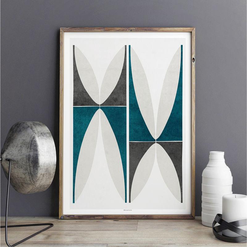 Abstract Geometric Wall Art Print U2013 Large Wall Art   Fine Art Prints U2013  Living Room