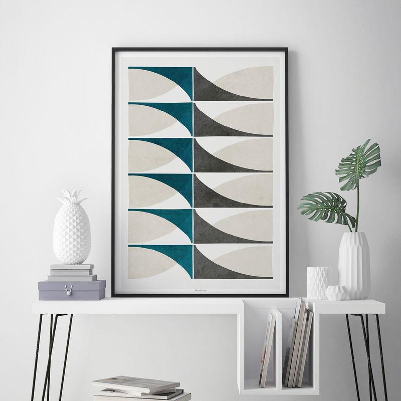 Geometric Wall Art U2013 Abstract Art Prints U2013 Living Room Prints U2013 Minimalist  Fine Art Prints