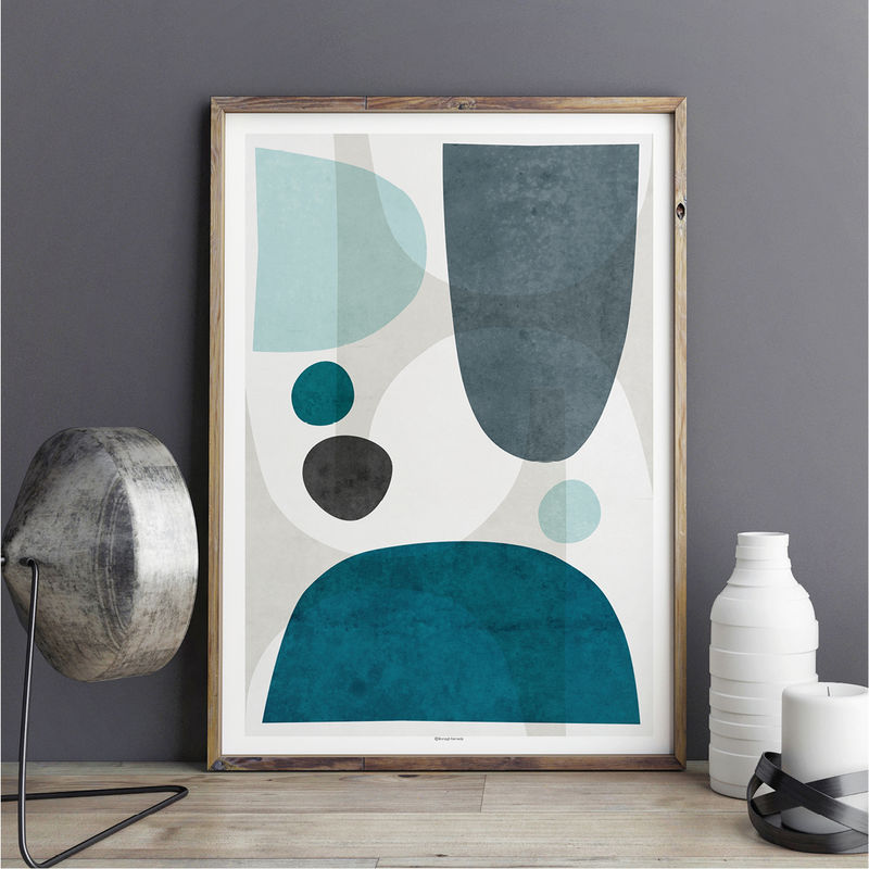 Blue Abstract Wall Art Living Room Art Blue Large Abstract Wall