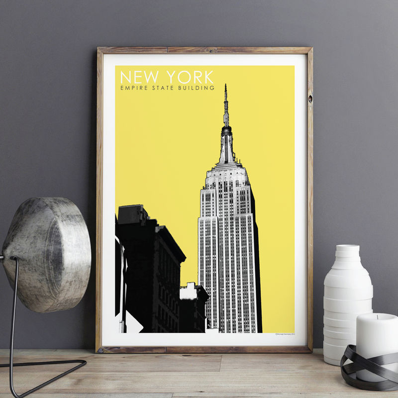 New York Wall Art Print - City Prints - New York Gift - Empire State ...