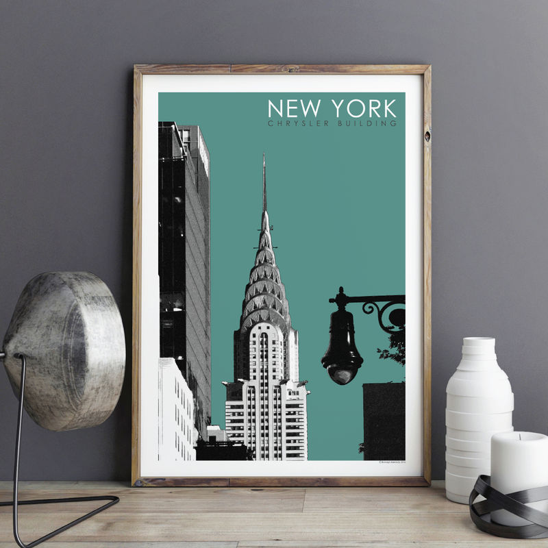New York Wall Art Print   Travel Print   Chrysler Building   City Prints    Product