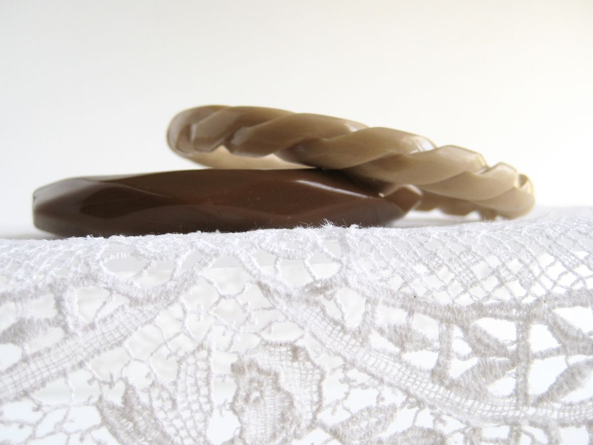 Pair of Bangles in Cocoa and Latte - product images  of