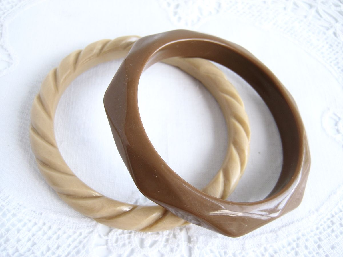 Pair of Bangles in Cocoa and Latte - product image