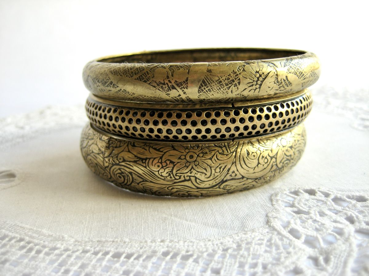 Brass Bangles set of 3 - product image