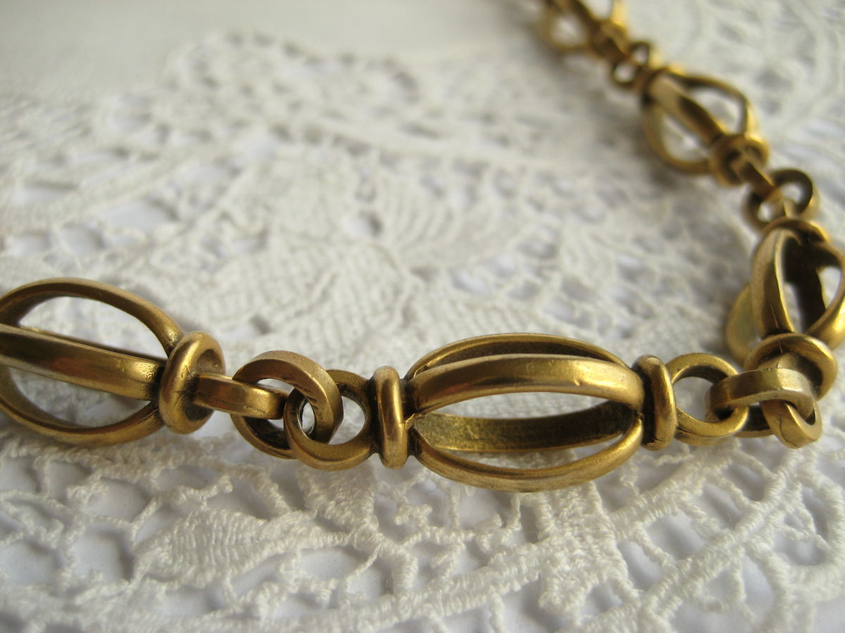 Beautiful decorative brass chain necklace  - product images  of