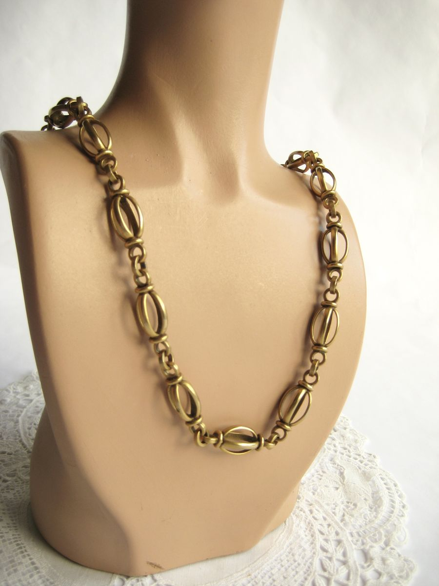 Beautiful decorative brass chain necklace  - product image